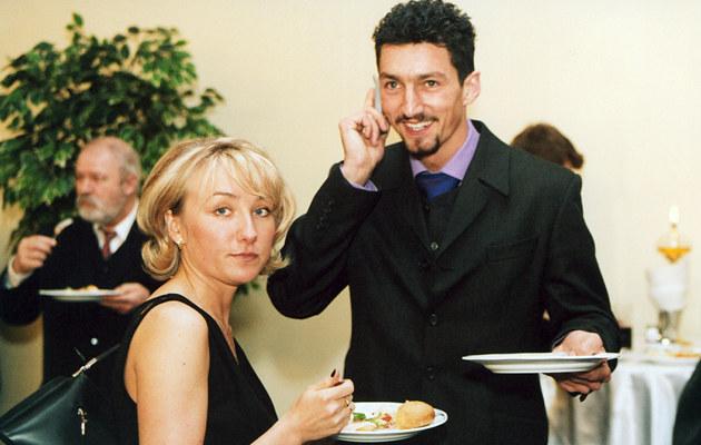 Dariusz Dudek z żoną Iwoną /Niemiec /AKPA