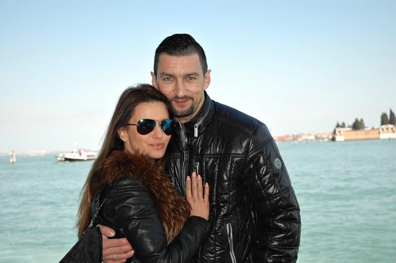 Dariusz Dudek ze swoją przyszłą żoną Anetą Franczak /