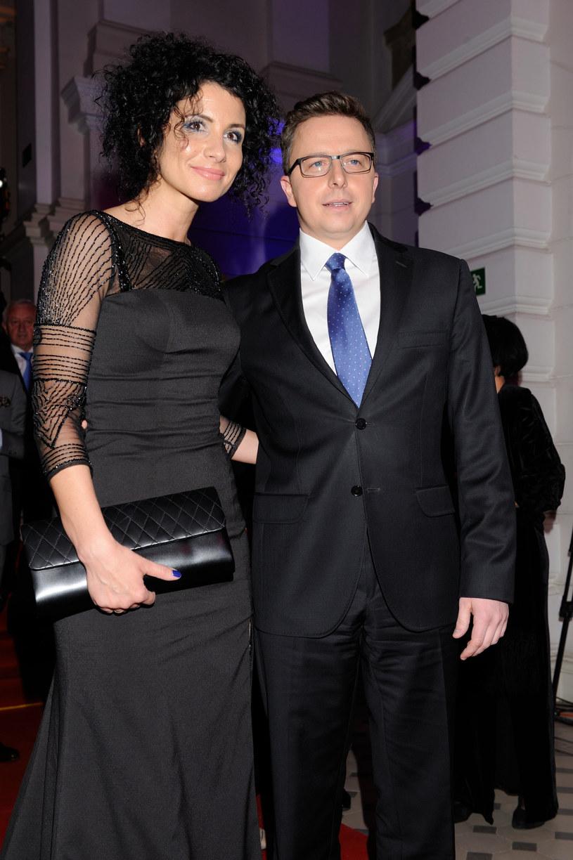 Dariusz Joński z żoną Małgorzatą /Boleslaw Waledziak/REPORTER /Reporter