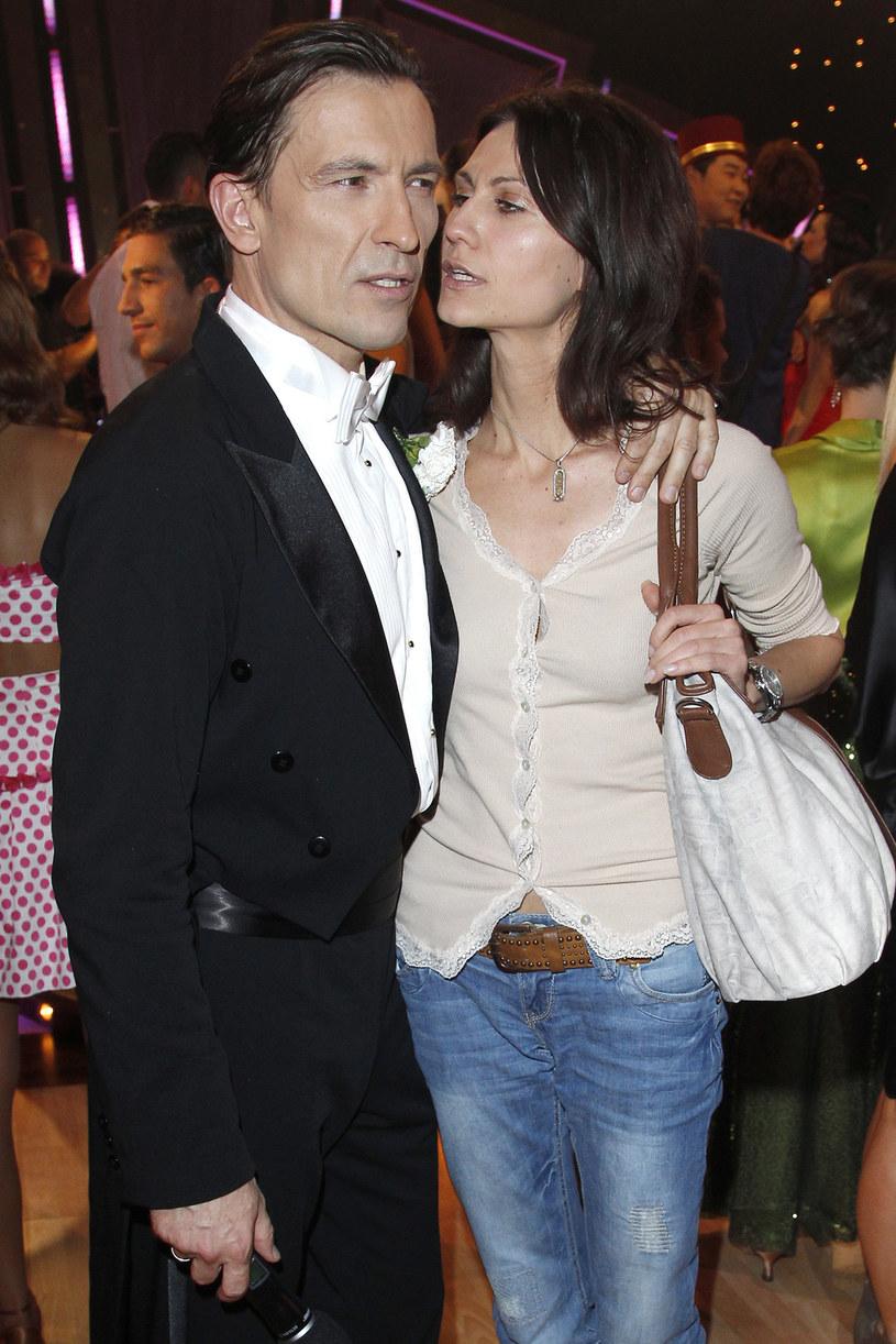 Dariusz Kordek z drugą żoną, Elizą /Engelbrecht /AKPA
