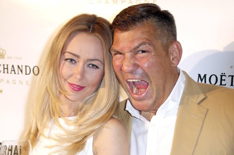 Dariusz Michalczewski i jego żona Barbara /Fot. imago stock&people /East News