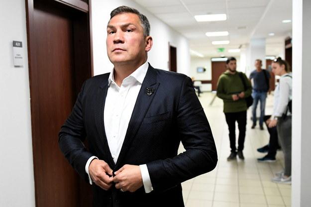 Dariusz Michalczewski przed salą Sądu Rejonowego w Gdańsku / Adam Warżawa    /PAP
