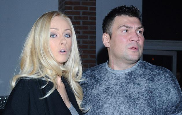 Dariusz Michalczewski z żoną Barbarą /Andras Szilagyi, Adam Malec /MWMedia