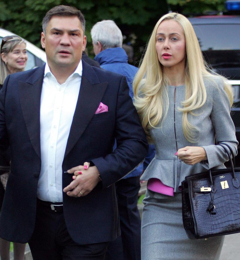 Dariusz Michalczewski z żoną Barbarą /Mirosław Pieślak /Agencja FORUM