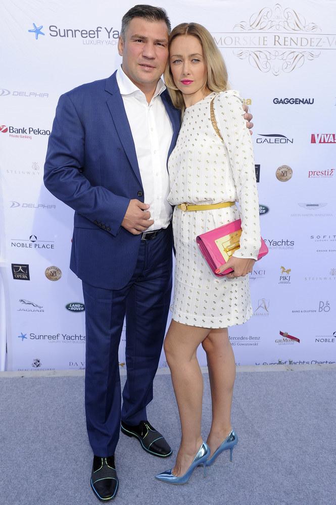 Dariusz Michalczewski z żoną Basią /Kurnikowski /AKPA