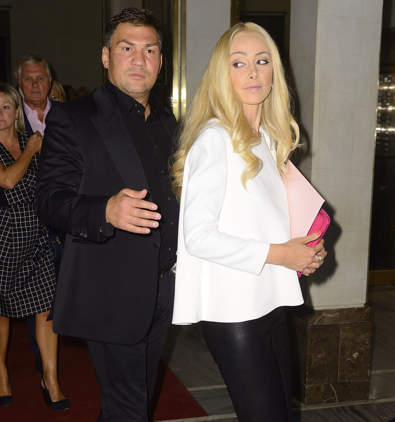 Dariusz Michalczewski z żoną Basią /Jarosław Antoniak /MWMedia