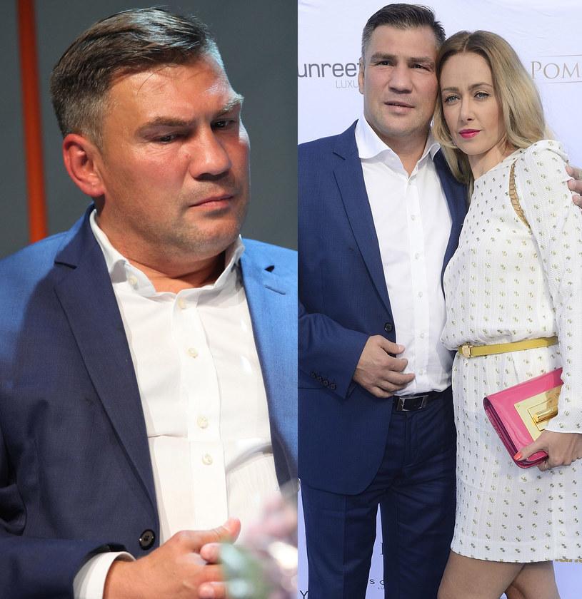 Dariusz Michalczewski z żoną Basią /Paweł Wrzecion /MWMedia