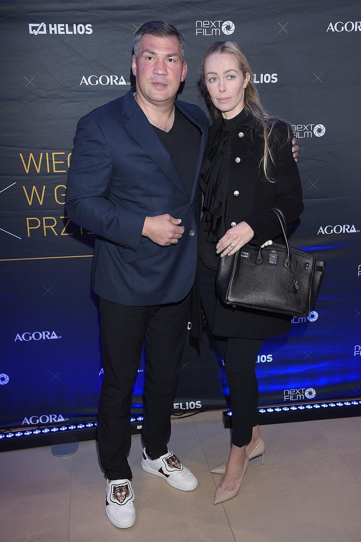 Dariusz Michalczewski z żoną /Kurnikowski /AKPA