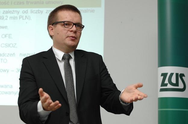 Dariusz Śpiewak, wiceprezes ZUS.  Fot. Piotr Gamdzyk /Reporter