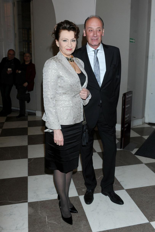 Dariusz Szpakowski z żoną /Michał Wargin /East News