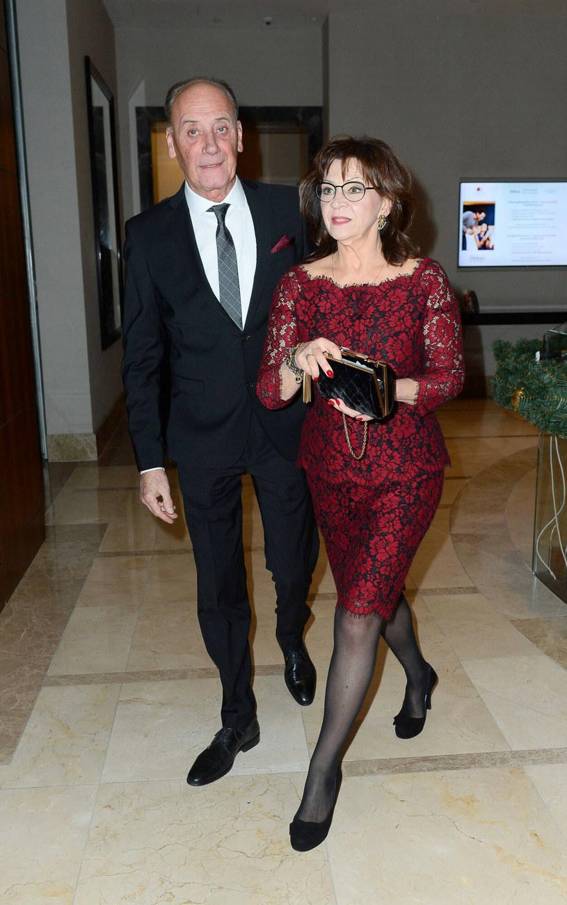 Dariusz Szpakowski z żoną /Tricolors /East News