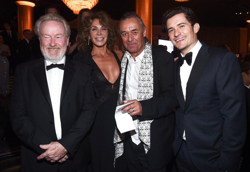 Dariusz Wolski (w środku) w towarzystwie Ridleya Scotta, Gianniny Facio i Orlando Blooma /Getty Images