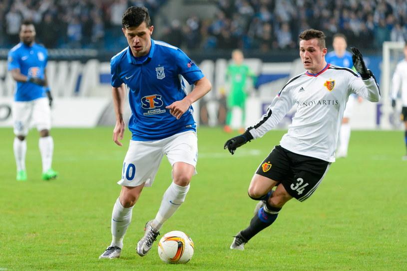 Darko Jevtić (z lewej) i Taulant Xhaka z FC Basel /Jakub Kaczmarczyk /PAP