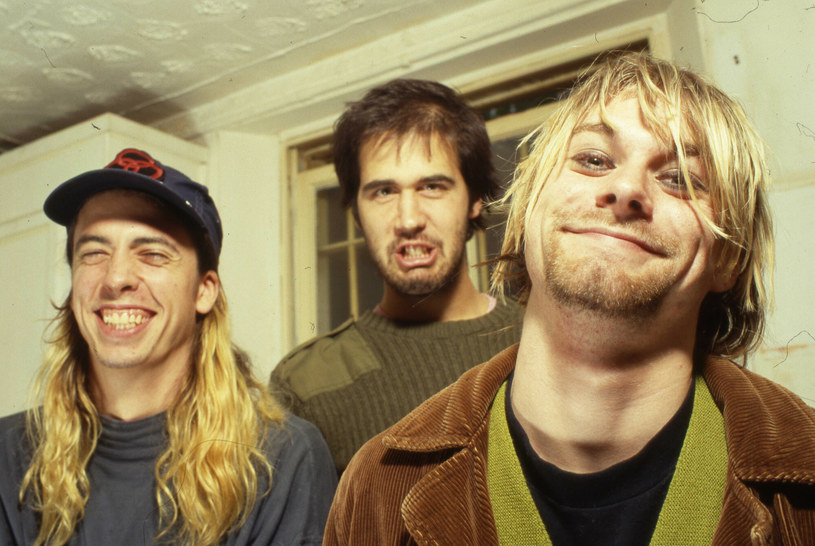 "Dave Grohl, Krist Novoselic, Kurt Cobain w 1992 roku podczas promowania ""Nevermind"" /Retna/PHOTOSHOT /East News"