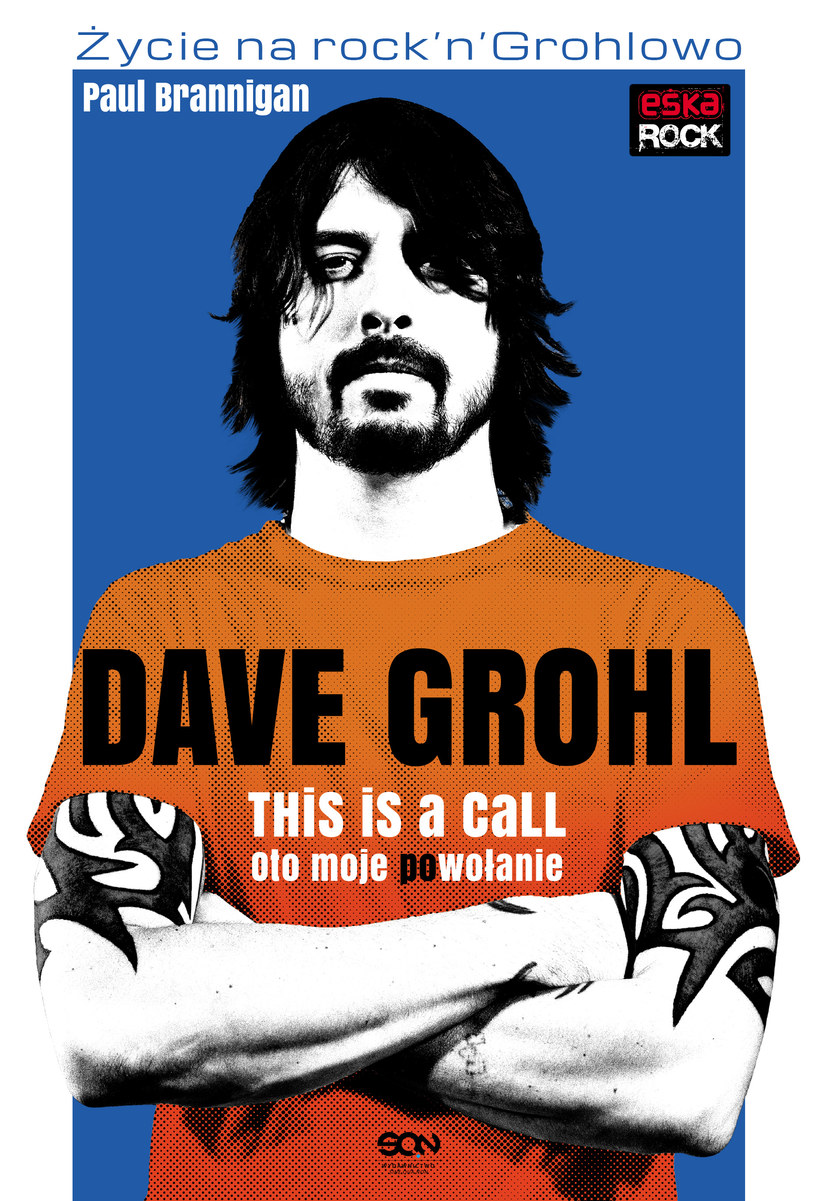 """Dave Grohl na okładce książki """"Oto moje (po)wołanie"""" /materiały promocyjne"""