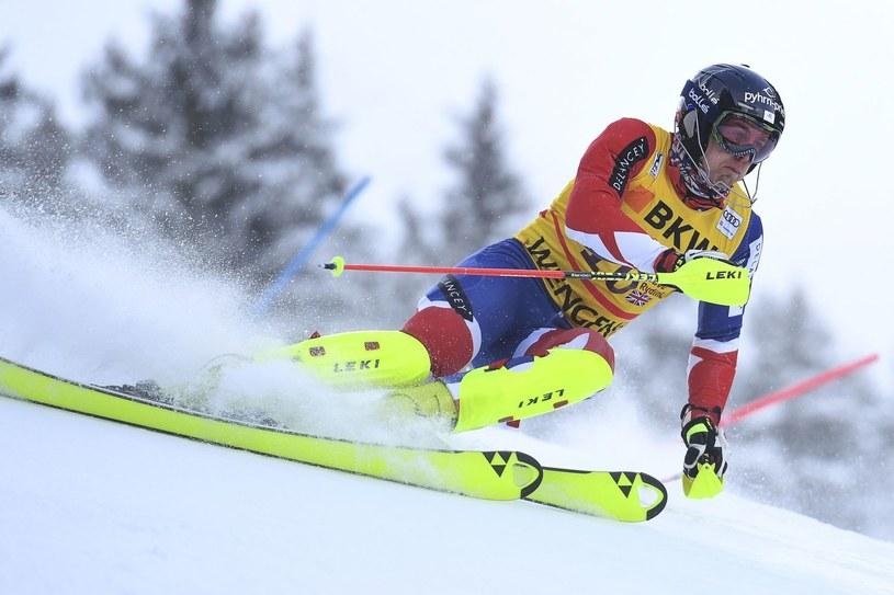 Dave Ryding w austriackim Kitzbuehel /AFP