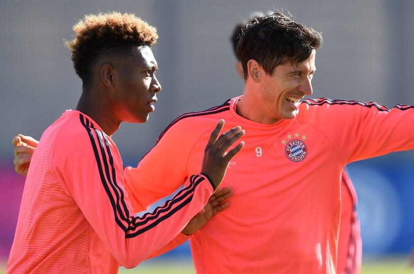 David Alaba i Robert Lewandowski na treningu Bayernu /AFP