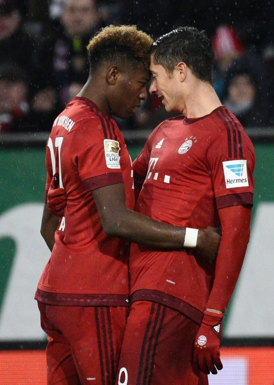 David Alaba i Robert Lewandowski z Bayernu Monachium /AFP
