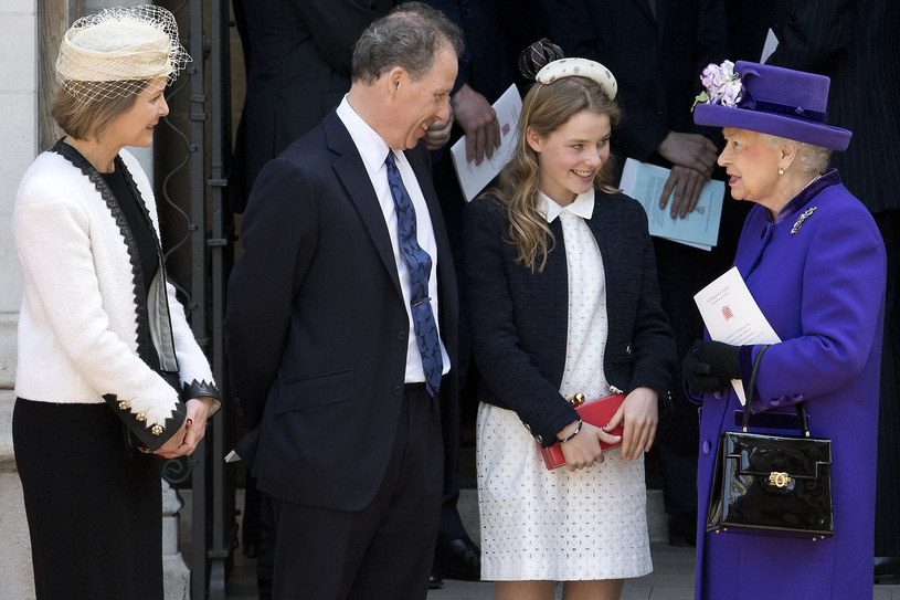 David Armstrong-Jones z żoną Sereną i córką /JUSTIN TALLIS /Getty Images