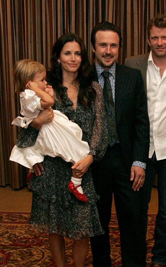 David Arquette z byłą żoną i córką kilka lat temu /Mark Mainz /Getty Images