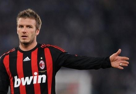 David Beckham coraz lepiej czuje się w Milanie. /AFP