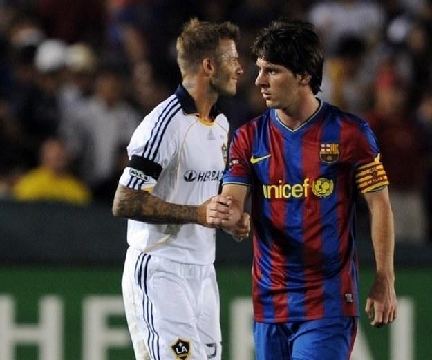 David Beckham i Leo Messi /AFP