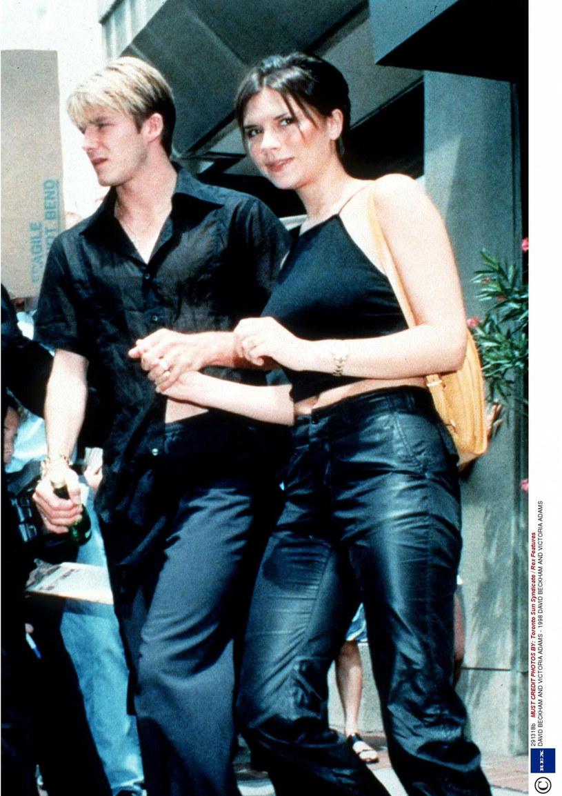 David Beckham (po lewej), Victoria Adams (po prawej) /Rex Features /East News
