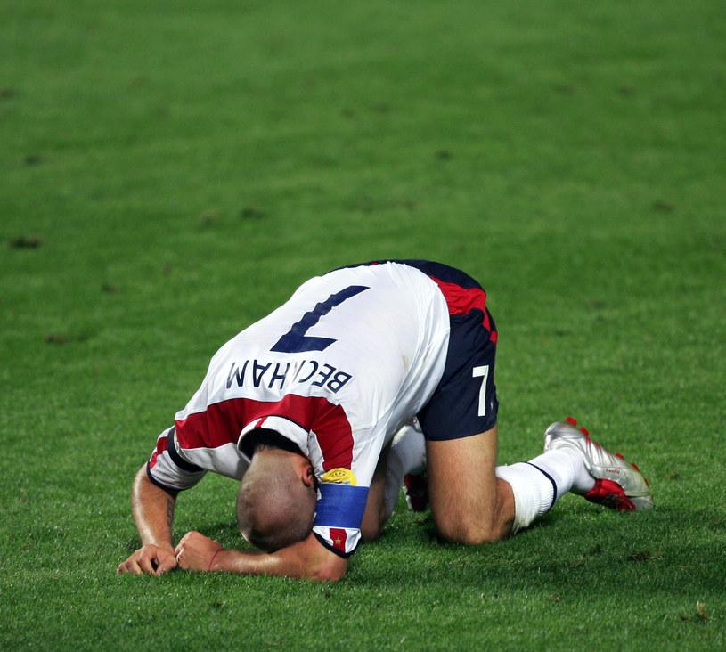 David Beckham rozpacza po meczu /AFP