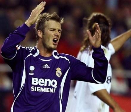 David Beckham strzelił piękną bramkę, ale Real przegrał w Sewilli /AFP