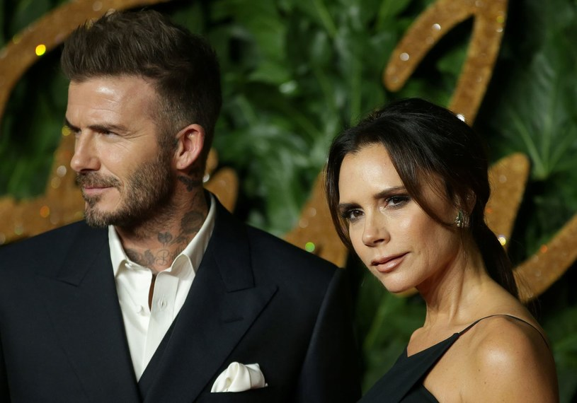 David Beckham wraz z żoną Victorią /AFP