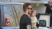 David Beckham z córeczką Harper