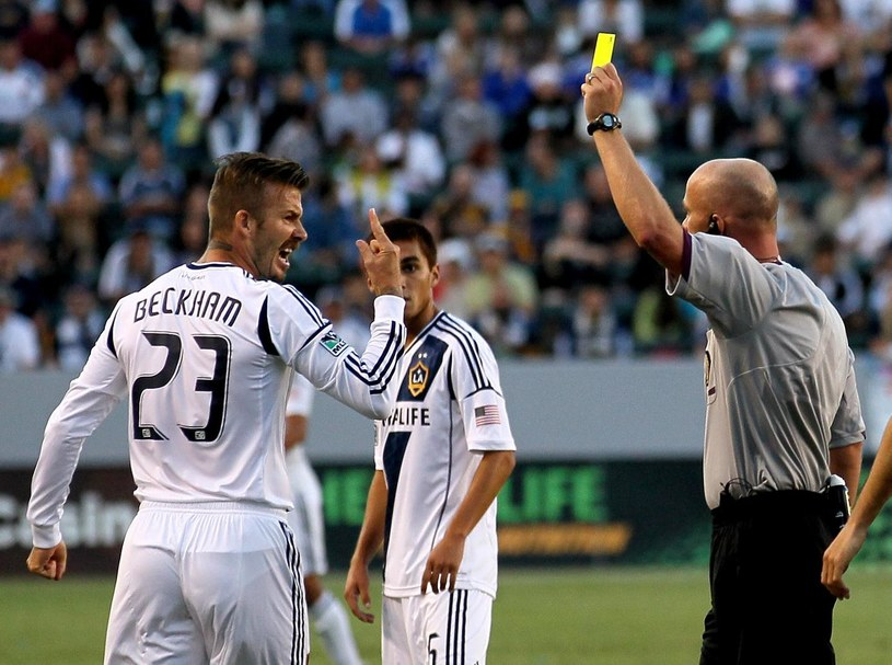 David Beckham (z lewej) został zawieszony na jeden mecz /- /AFP