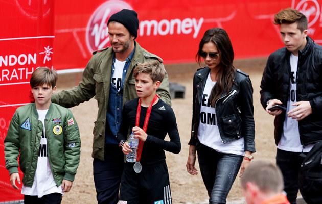 David Beckham z rodziną /Steve Bardens /Getty Images