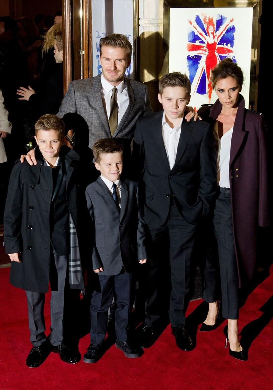 David Beckham z rodziną. /AFP