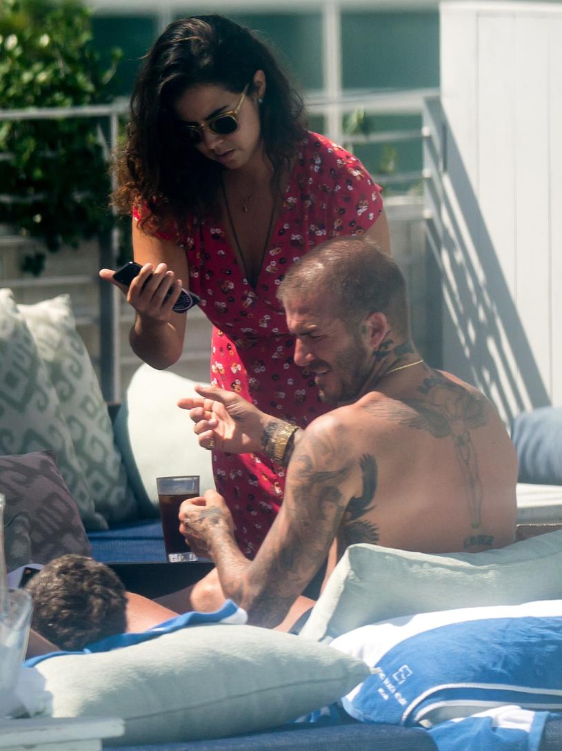 David Beckham z tajemniczą kobietą /East News
