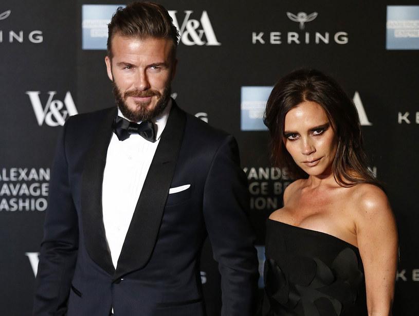 David Beckham z żoną Victorią /AFP