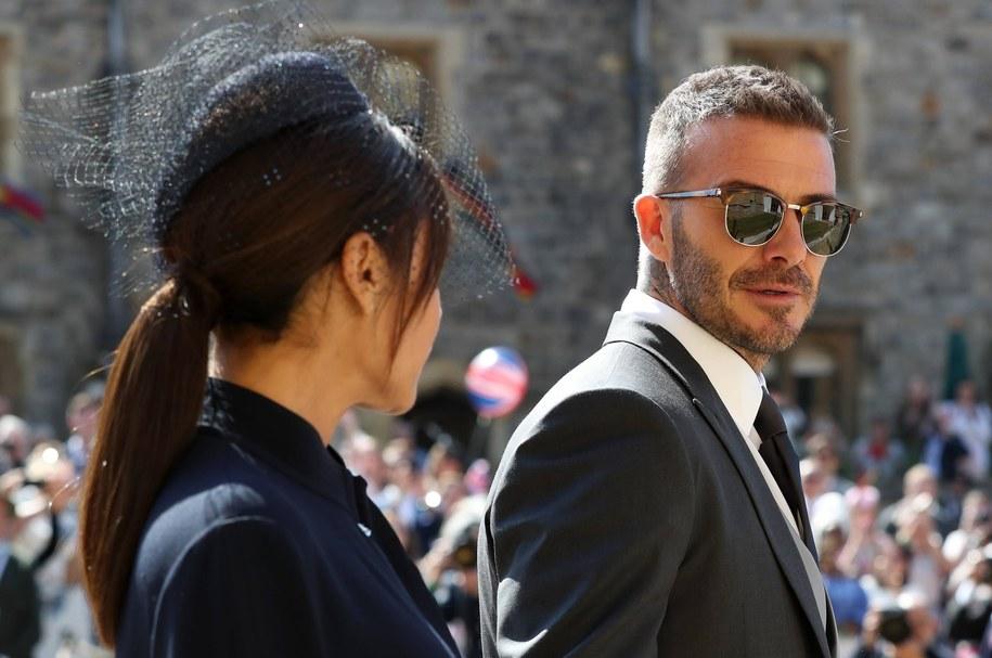 David Beckham z żoną Victorią /Gareth Fuller    /PAP/EPA