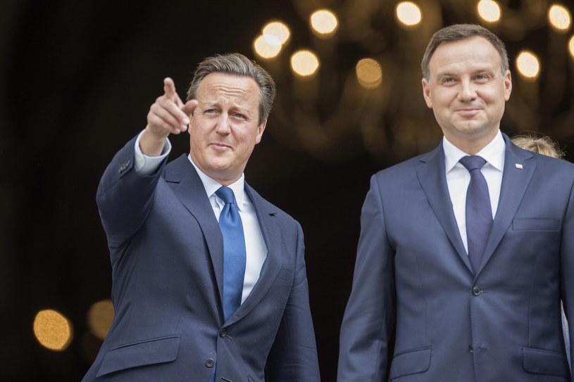 David Cameron i Andrzej Duda /AFP