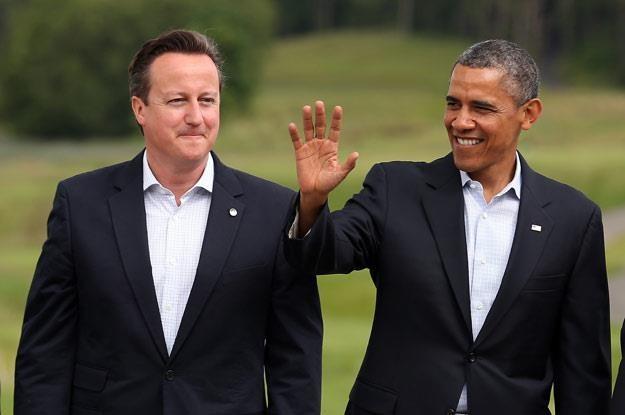 David Cameron i Barack Obama podczas szczytu G8 (fot. Matt Cardy) /Getty Images/Flash Press Media