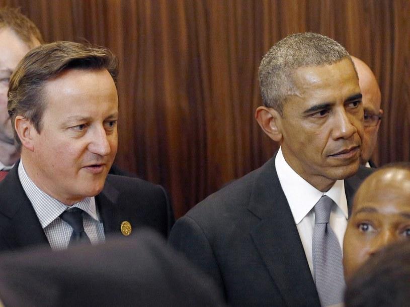 David Cameron i Barack Obama /FATIH AKTAS /AFP