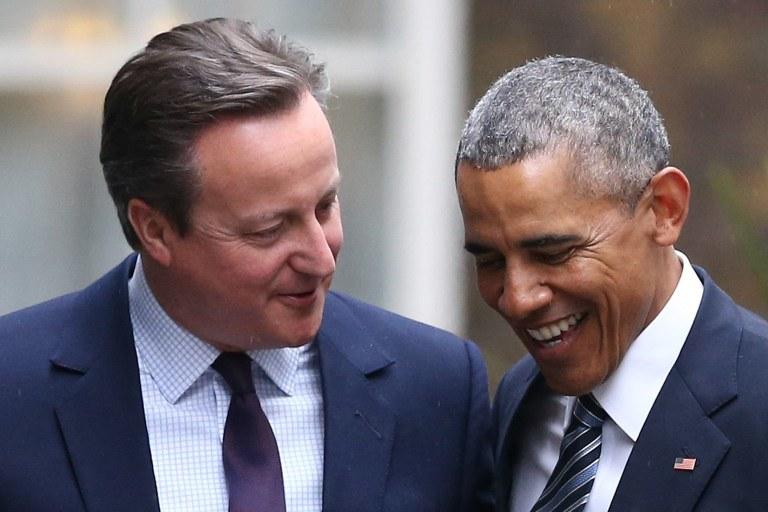 David Cameron i Barack Obama /AFP