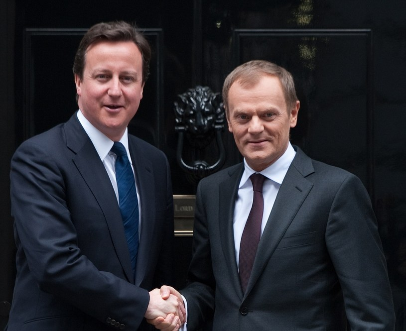 David Cameron i Donald Tusk /AFP