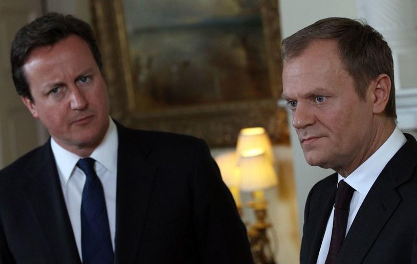 David Cameron i Donald Tusk /AFP