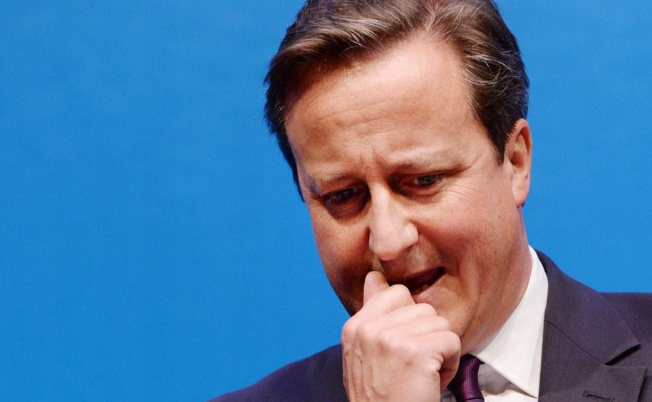 David Cameron podczas wystąpienia w szkockim Aberdeen /ANDY RAIN /PAP/EPA