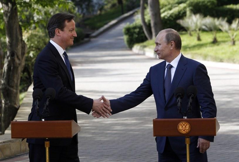 David Cameron ściskła dłoń Władimirowi Putinowi /AFP