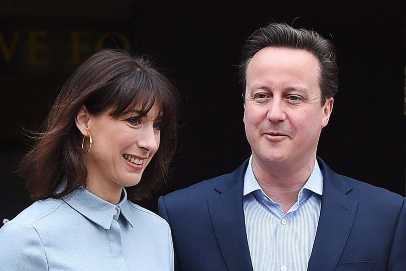 David Cameron z żoną /PAP/EPA