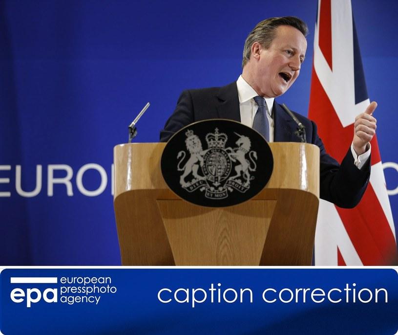 David Cameron /PAP/EPA
