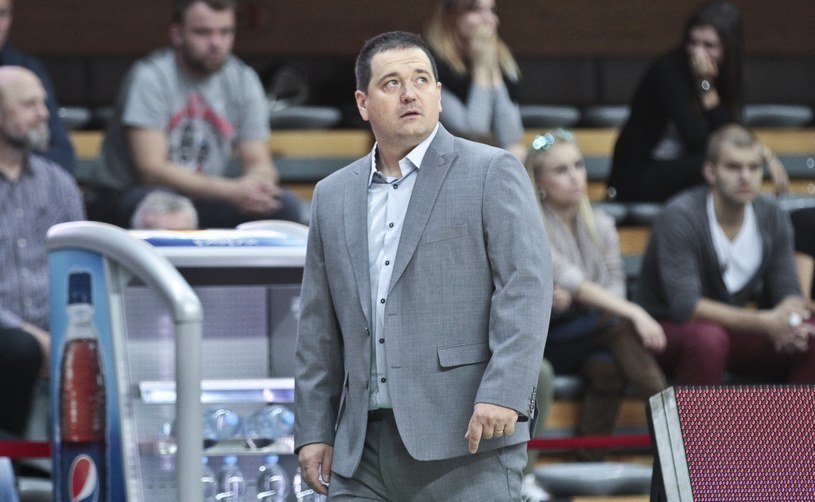 David Dedek, trener koszykarzy TBV Start Lublin /Piotr Jezdura /East News