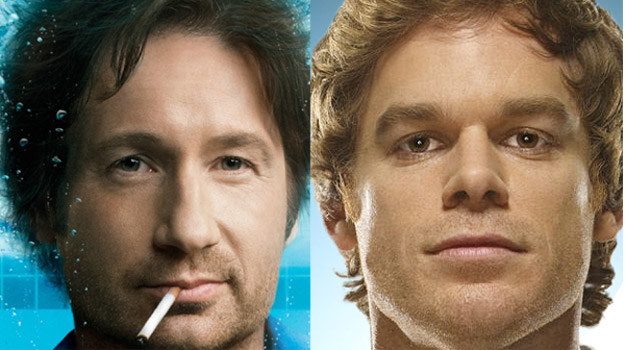 "David Duchovny (""Californication"") i Michael C. Hall (""Dexter"") /materiały prasowe"