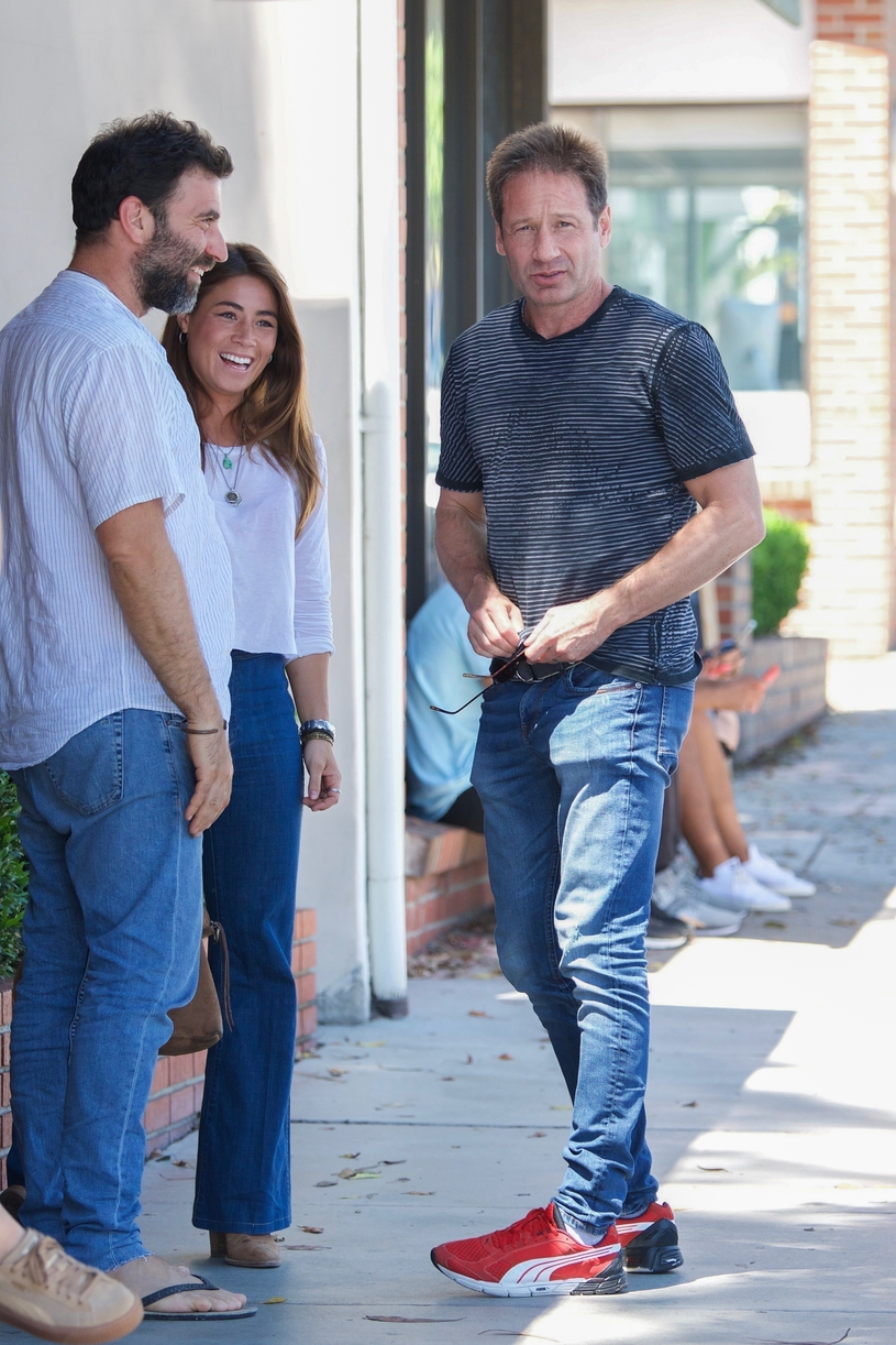 David Duchovny i Monique Pedleberry /Agencja FORUM